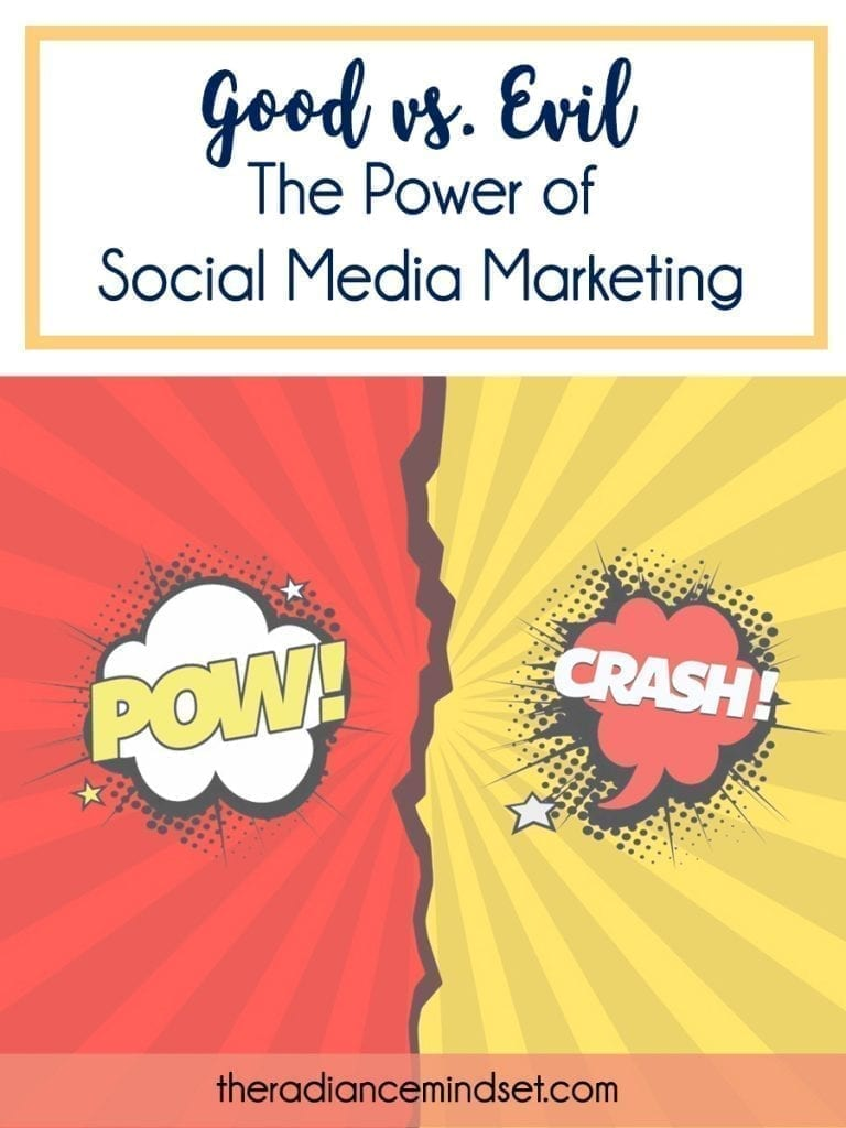 Post Pinnable image  | Power of Social Media | The Radiance Mindset | theradiancemindset.com