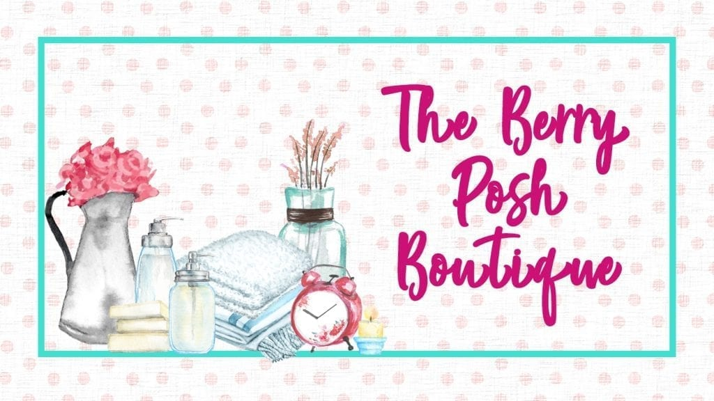 The Berry Posh Boutique logo Design | The Radiance Mindset | www.theradiancemindset.com