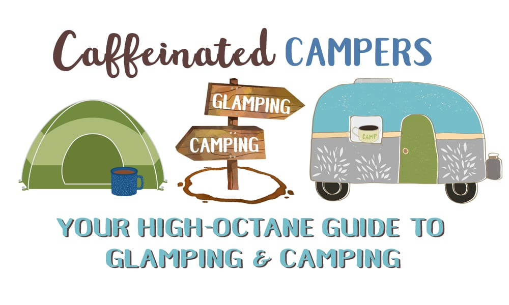 Caffeinated Campers Logo Design | The Radiance Mindset | www.theradiancemindset.com