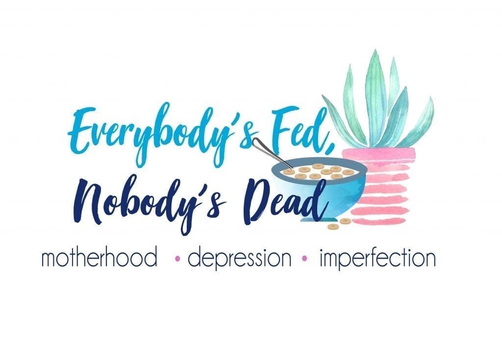 Everybody's Fed, Nobody's Dead Blog Logo Design Caffeinated | The Radiance Mindset | www.theradiancemindset.com