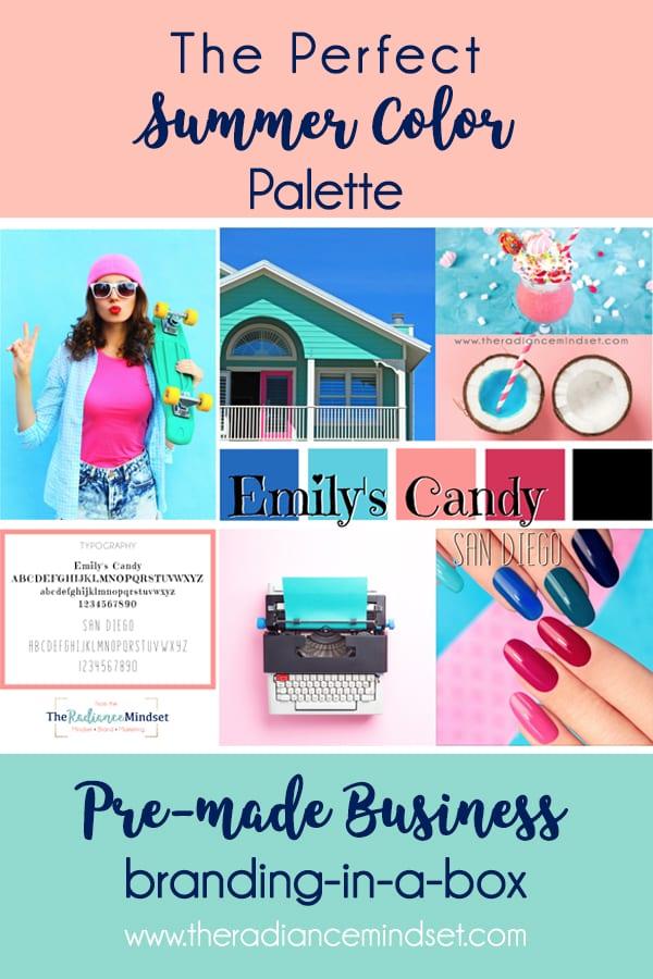Summer Color Palette Branding and Mood Board | The Radiance Mindset | www.theradiancemindset.com