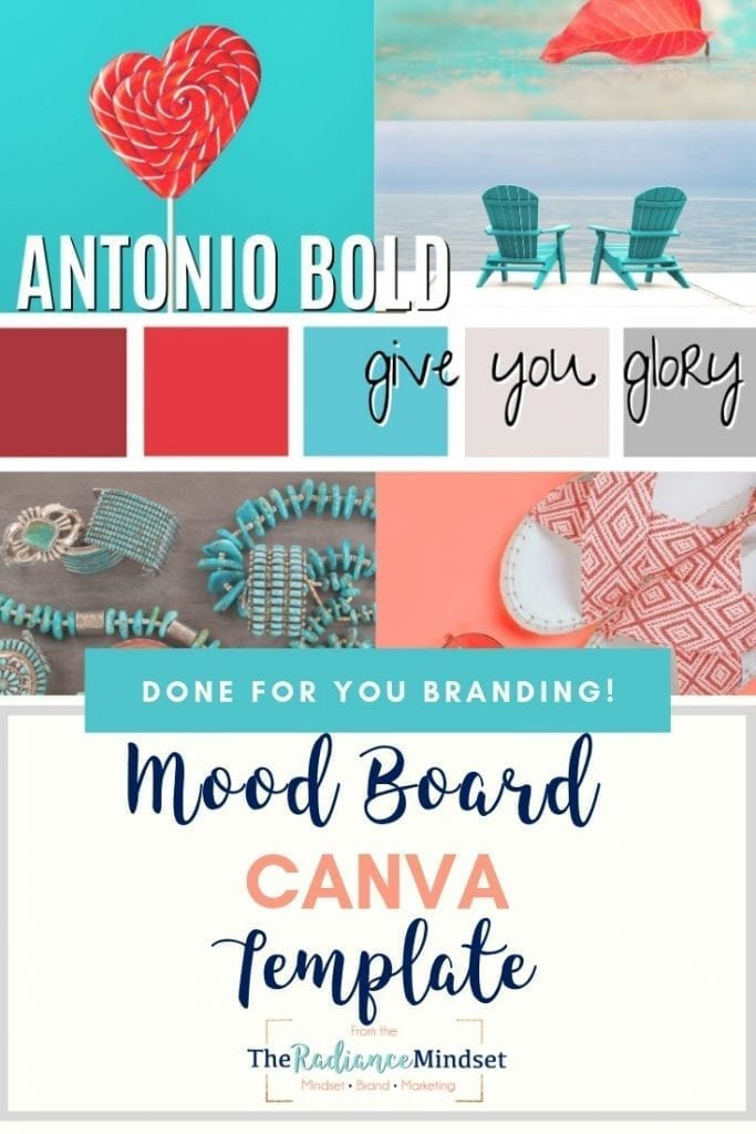 Red Teal Color Scheme Palette Branding and Mood Board | The Radiance Mindset | www.theradiancemindset.com