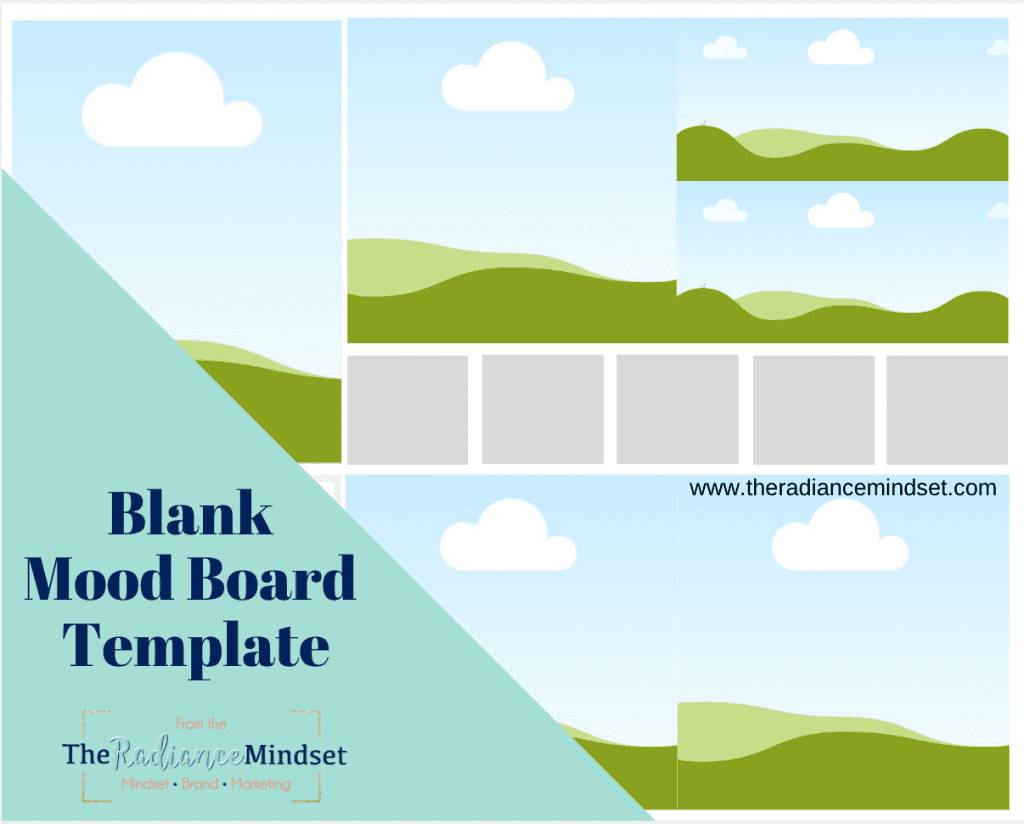 Blank Mood Board Template | The Radiance Mindset | www.theradiancemindset.com