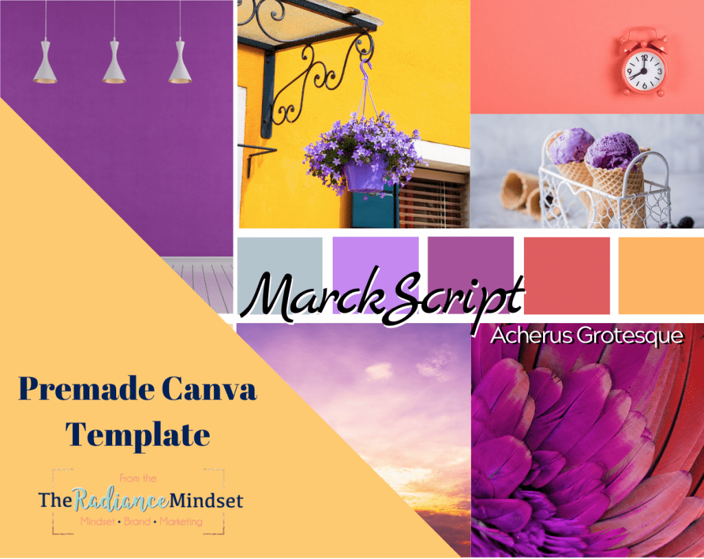 Tropical Summer Palette Branding and Mood Board | The Radiance Mindset | www.theradiancemindset.com