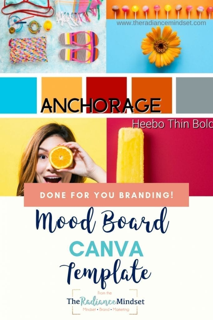 True Summer Color Palette Branding and Mood Board | The Radiance Mindset | www.theradiancemindset.com