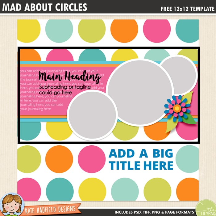Kate Hadfield Designs scrapbook layout