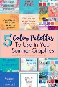 Summer Color Palettes RoundUp | The Radiance Mindset | www.theradiancemindset.com