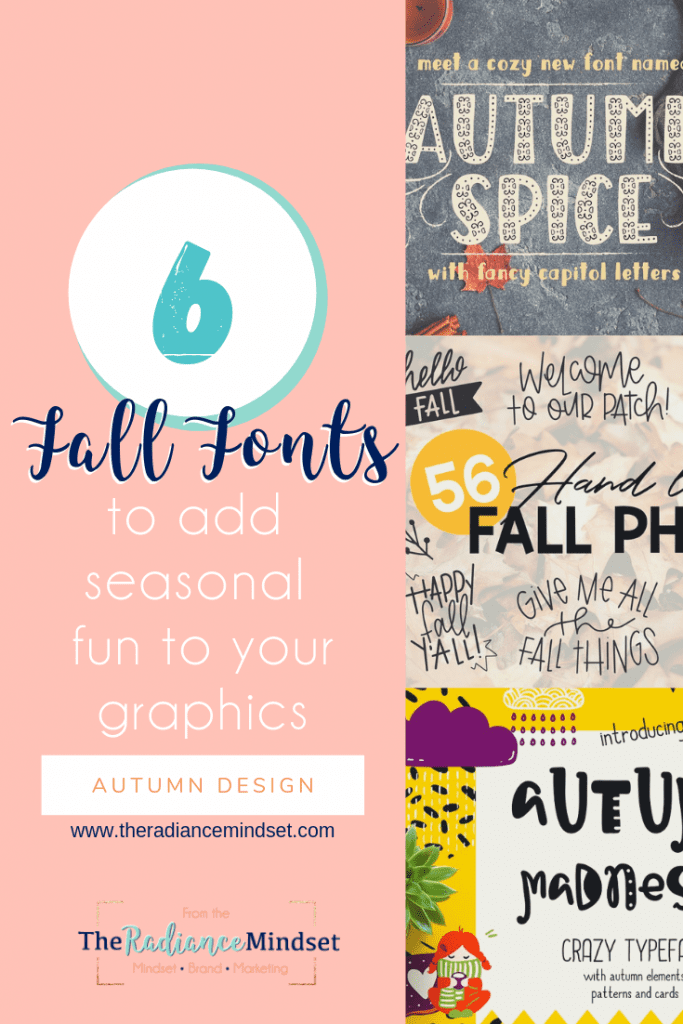 Fall Font | Fall Inspired fonts | The Radiance Mindset | www.theradiancemindset.com
