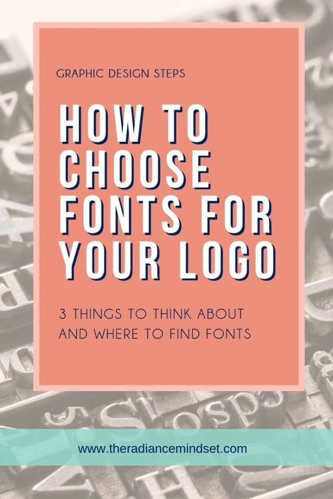 How to choose logo fonts | The Radiance Mindset | www.theradiancemindset.com