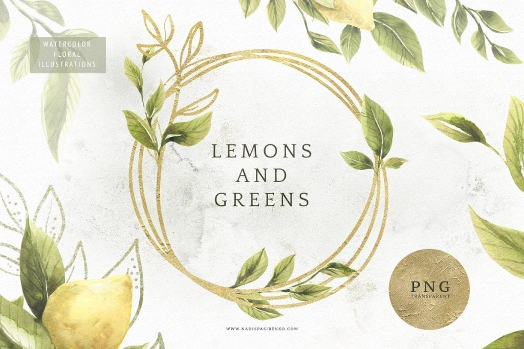 Creative Market | Lemon Clip Art | The Radiance Mindset | www.theradiancemindset.com