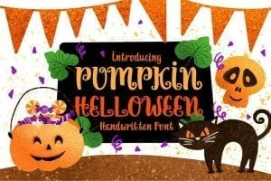 Halloween Fonts | https://creativemarket.com/caocastudio/3999859-Pumpkin-Halloween?u=holly.isaacson