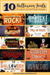 Halloween Fonts | The Radiance Mindset | www.theradiancemindset.com