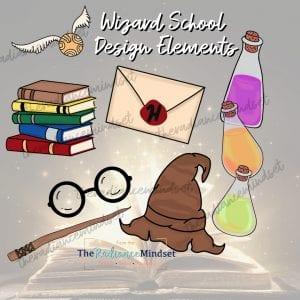 Harry Potter Clip art | Wizarding School | The Radiance Mindset | www.theradiancemindset.com