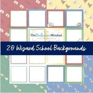 Harry Potter digital backgrounds | scrapbook paper | Wizarding School | The Radiance Mindset | www.theradiancemindset.com