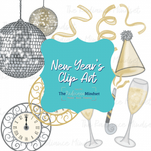 New Years Theme Clipart | The Radiance Mindset | www.theradiancemindset.com