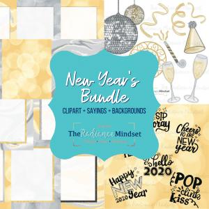 New Years Theme Graphics Bundle | The Radiance Mindset | www.theradiancemindset.com