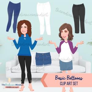 Basic Bottoms Clipart | The Radiance Mindset | www.theradiancemindset