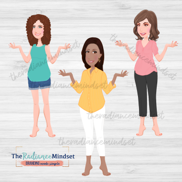 Basic Bottoms Clipart | Basic Tops Clipart | The Radiance Mindset | www.theradiancemindset