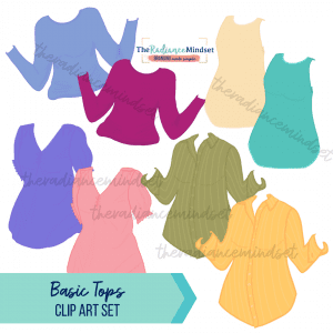 Basic Tops Clipart | The Radiance Mindset | www.theradiancemindset