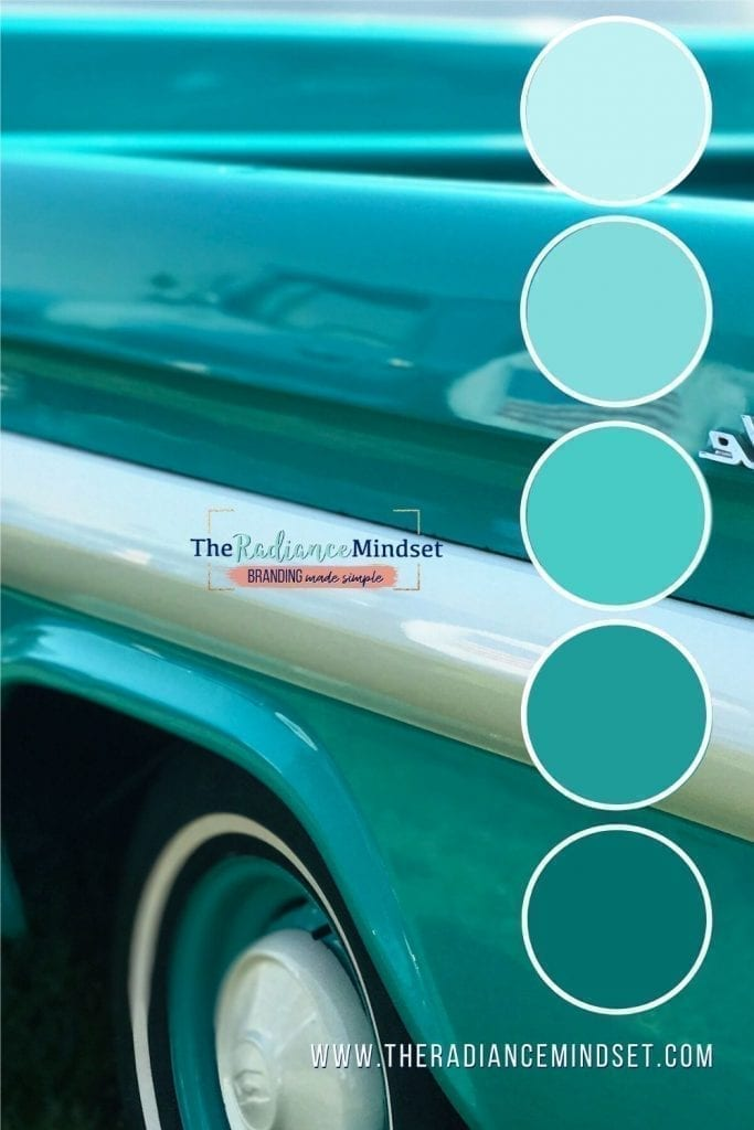 Using the color turquoise & teal in marketing | The Radiance Mindset | www.theradiancemindset.com