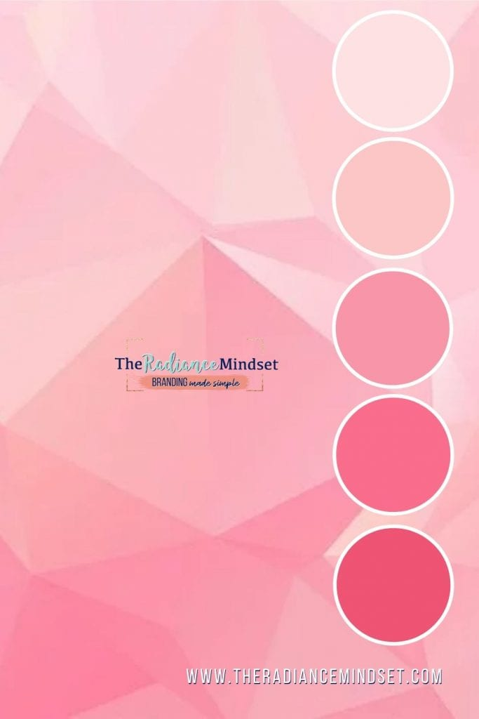Using Pink in Marketing | The Radiance Mindset | www.theradaincemindset.com