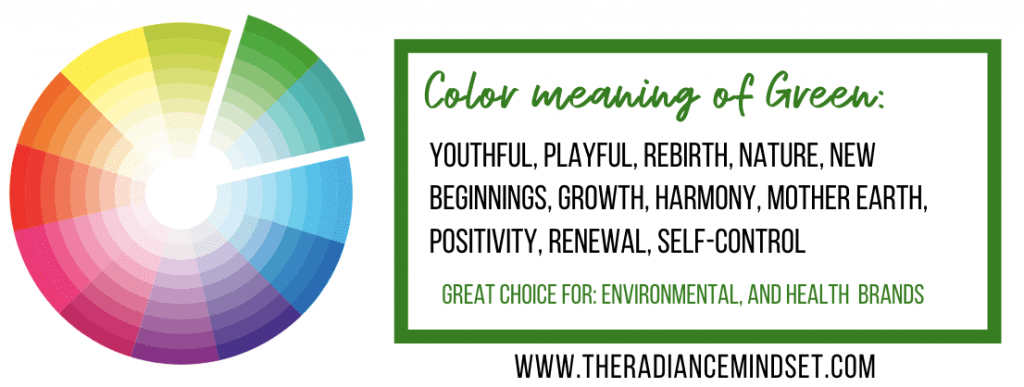 Using the color Green in Marketing | The Radiance Mindset | www.theradiancemindset.com